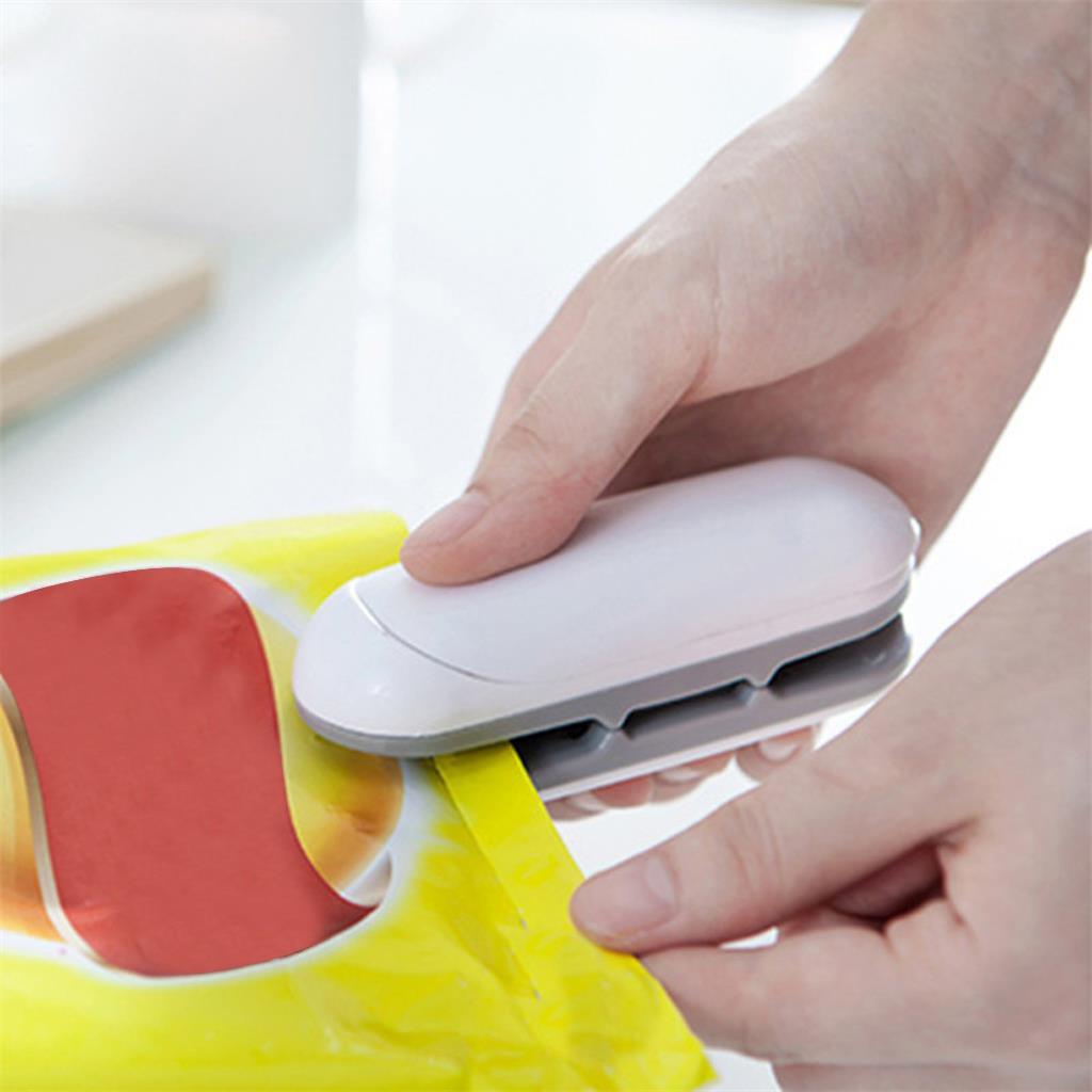 Mini Portable Food Sealer Snack Bag Clip Hot Sealer Candy Blend Color Home Kitchen Store Electric Ap