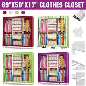 Non-woven Cloth Wardrobe Large Capacity Folding Portable DIY Wardrobe Clothes Storage Fabric Closet Clothing Storage Cabinet