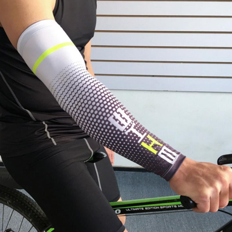 Erkekler spor kol kovanı serin UV güneş koruma manşet kapağı koruyucu hızlı kuru kol kollu açık bisiklet koşu bisiklet 1 adet