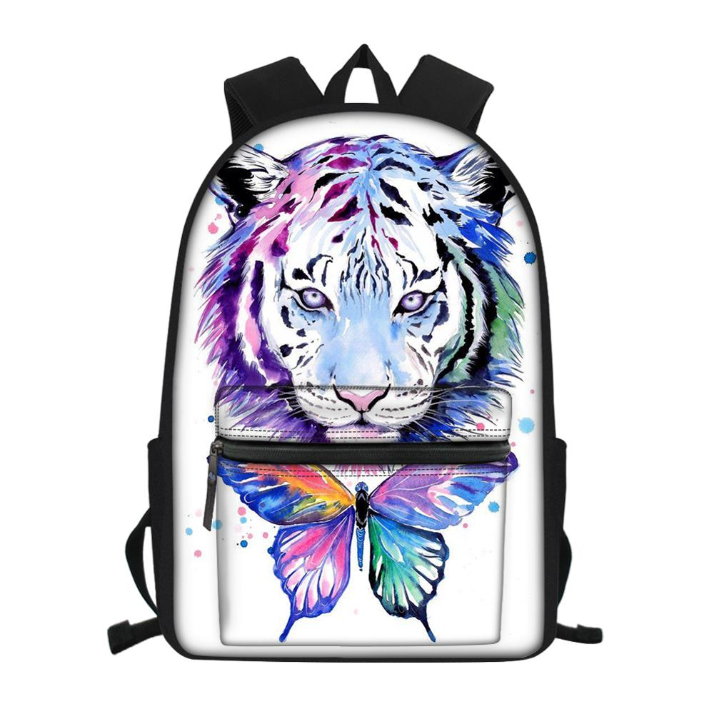 2020 customizable cool tiger print youth school bag student school bag men and women backpack school bag female backpack emoji backpack school bag