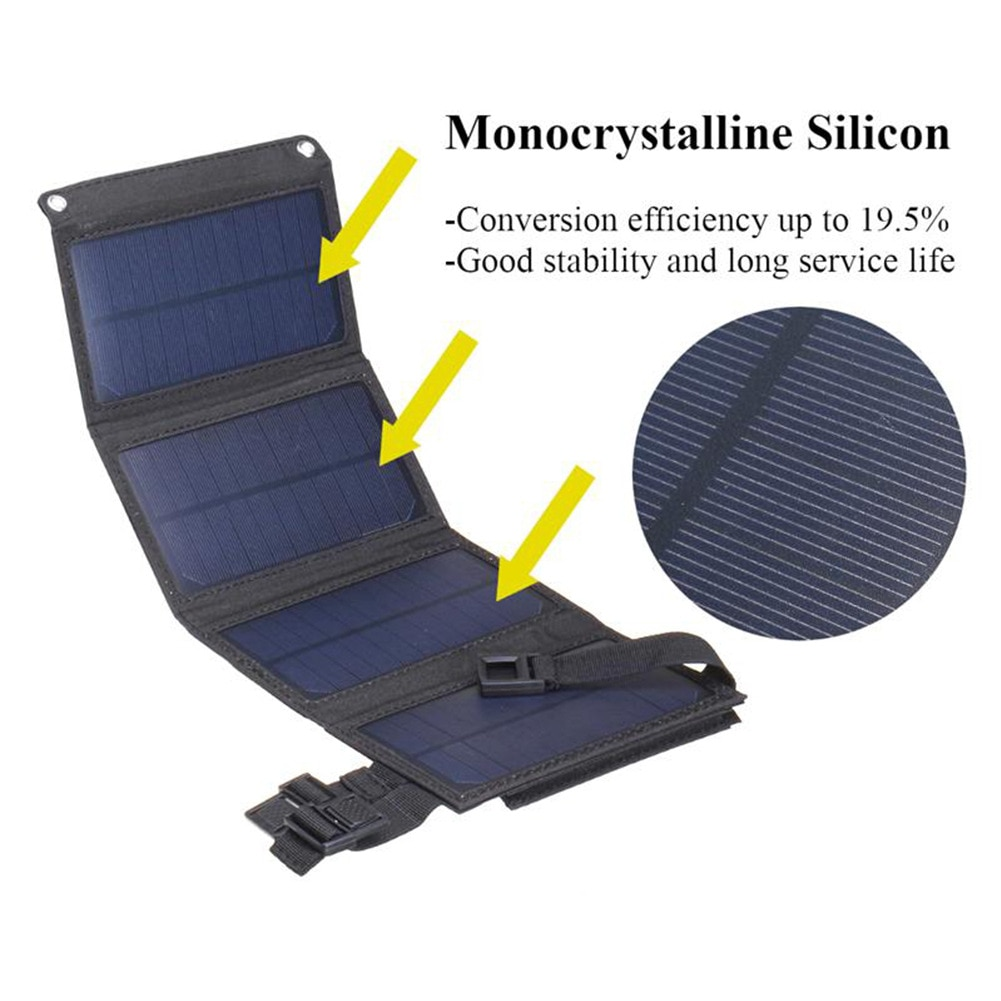 20W USB Solar Panel Charger Portable Cells Charge for iPhone iPad Samsung Huawei Xiaomi Sony OPPO Vivo Nokia Dropshipping