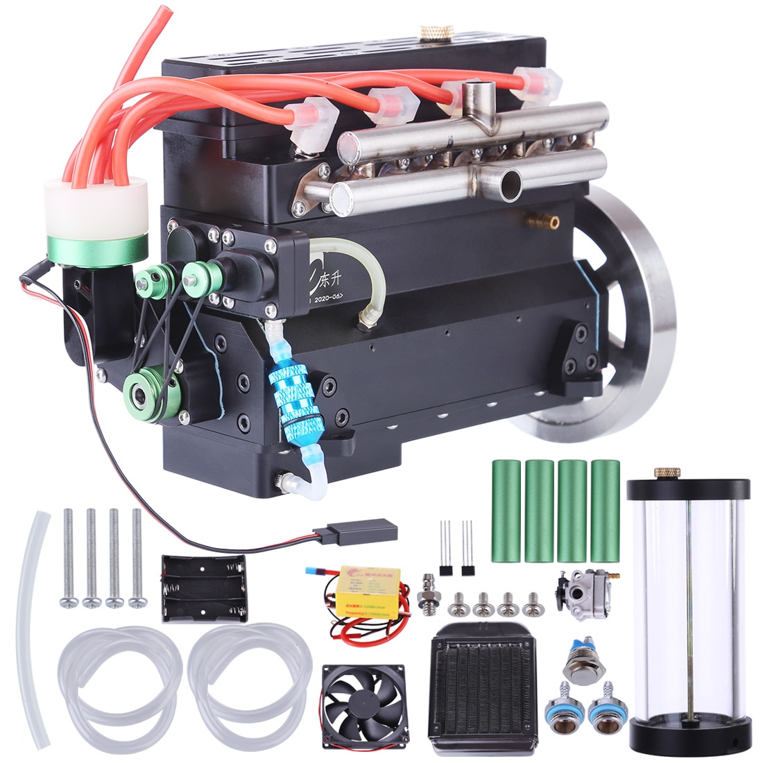 32cc Inline Four-Cylinder Water-Cooled Gasoline Engine For RC Model Car / Ship / Airplane For Childr