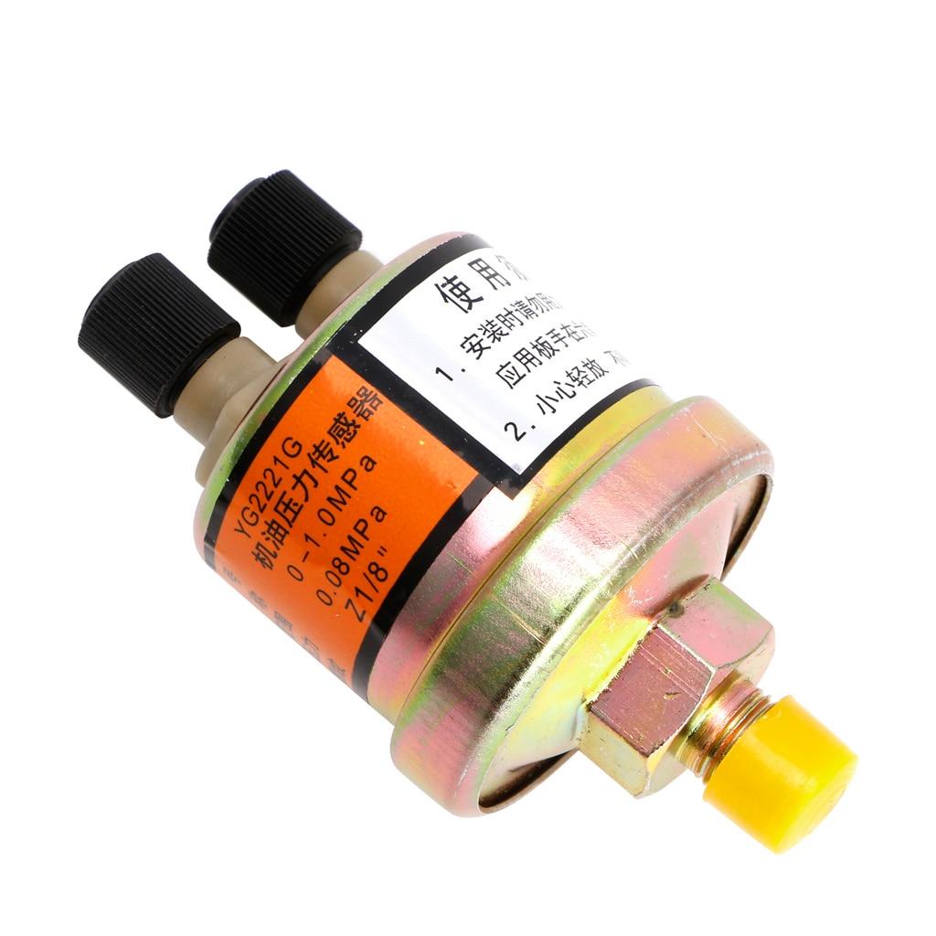 2018 novo sensor de pressão óleo do motor calibre sender switch envio unidade 1/8 npt 80x40mm suporte transporte da gota