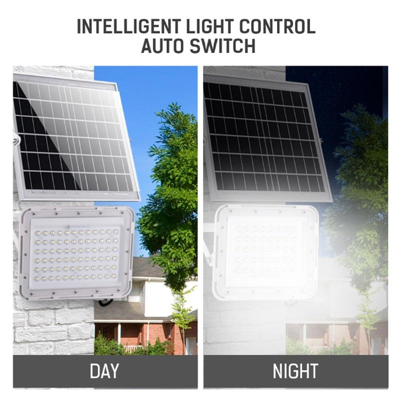 Solar Flood Light Waterproof 100W 200W 300W Led Spotlight Remote Control Outdoor Garden Path Street Lamp Courtyard Wall Lamp enlarge