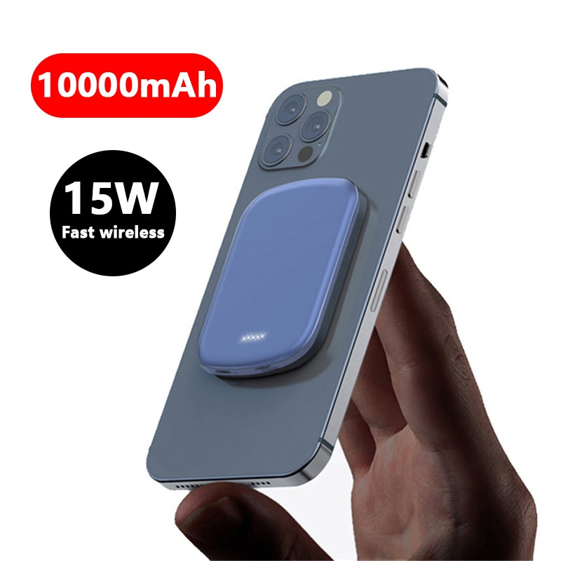 For 2021 NEW 10000mAh magsafe power bank External auxiliary battery For iphone 12 Magsafing powerbank Magnetic Wireless charger