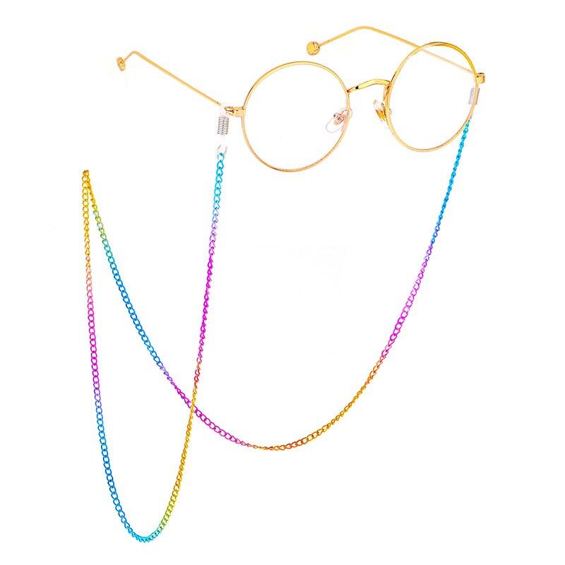 1PCS Colorful Reading Glasses Sunglasses Neck Chain Cords Holder Fashion Neck Decoration Metal Strap Spectacles