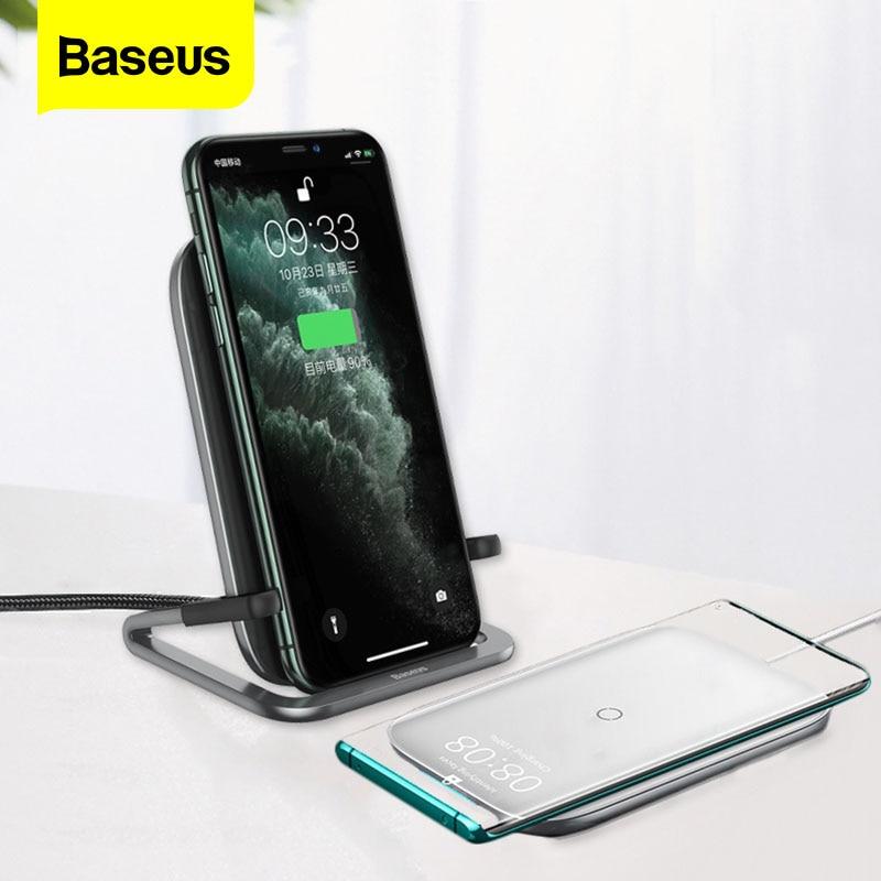 Baseus-شاحن لاسلكي Qi 15W ، لهاتف iPhone 11 Pro Max Xs Samsung S10 S9 S8 ، شحن سريع لهاتف Xiaomi 8 9 Pro