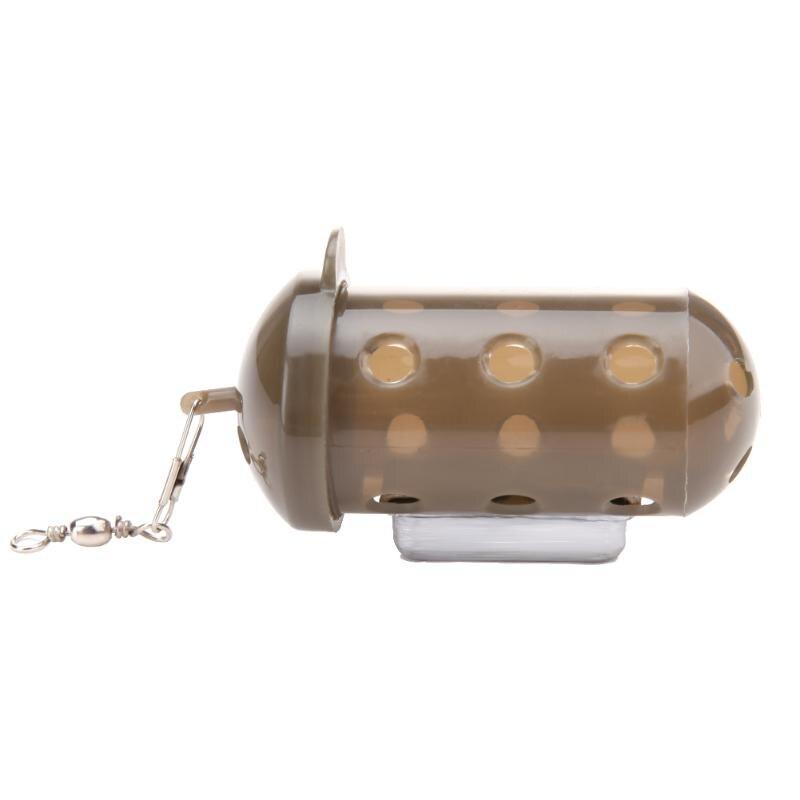 Carpe feeder de pêche Appât Cage Leurre Fosse Dispositif avec grains De Plomb leurre Ver Ver T Queue Wobblers Leurre De Pêche Iscas