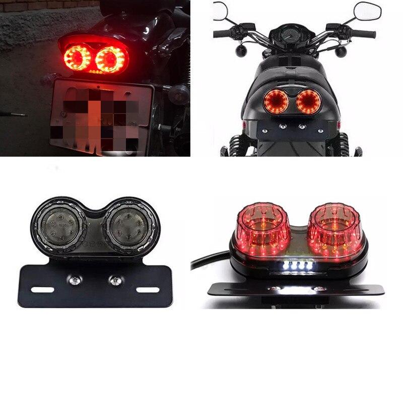 Luz trasera LED personalizada para motocicleta, luz de freno de parada trasera para motocicleta, luz de matrícula, indicadores de señal de giro para BMW Universal