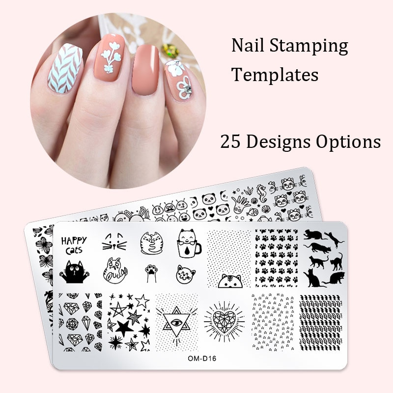 25 Design Options 1PC Nail Stamping Plates Lace Flower Animal Geometry Pattern Nail Art Image Plate Stencil Manicure Tools недорого