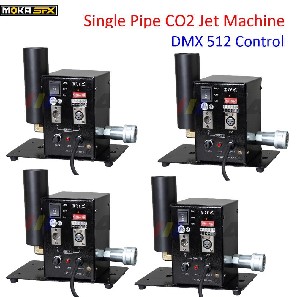 4 قطعة/الوحدة أنابيب واحدة DMX512 DJ جيت مجموعة Co2 نادي الرقص CO2 نظام الناسف CO2 آلة الضباب
