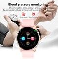 Женские Смарт-часы в режиме реального времени прогноз погоды трекер активности монитор сердечного ритма спортивные женские Смарт-часы для мужчин для IOS и Android