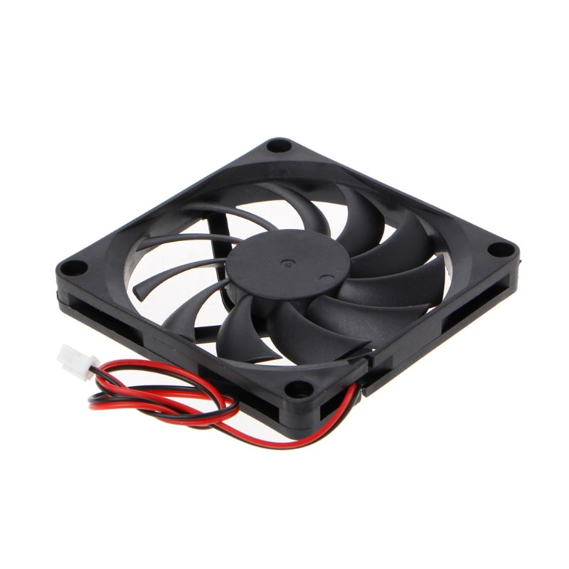 24V 2-контактный 80x80x10 мм компьютер Процессор Системы радиатора Бесщеточный вентилятор охлаждения 8010
