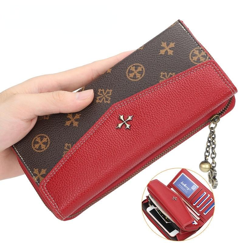 Кошельки из искусственной кожи женские кошельки модный длинный женский кошелек на молнии Держатель для монет женский длинный кошелек женс...