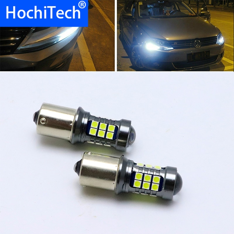 Para Volkswagen VW Sharan MPV 2010 2011 2012 2013 2014 2015 Ultra brillante blanco Reflector 1156 S25 bombillas LED luz diurna