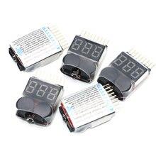 100 pièces/lot 1-8S Lipo/Li-ion/Fe batterie tension 2IN1 testeur basse tension Buzzer alarme 3.7V-22.2V