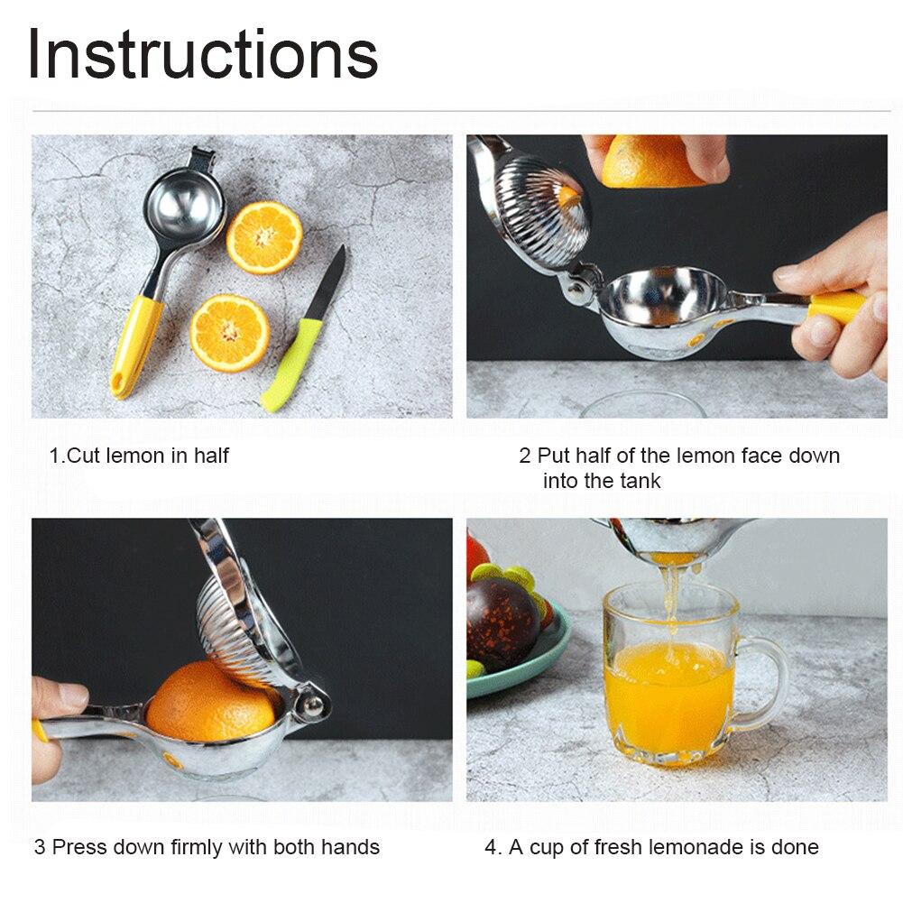 Home المطبخ مريح سهل التنظيف اليد الصحافة مقبض طويل الليمون عصارة البرتقال النازع دليل الفولاذ المقاوم للصدأ غسالة صحون آمنة