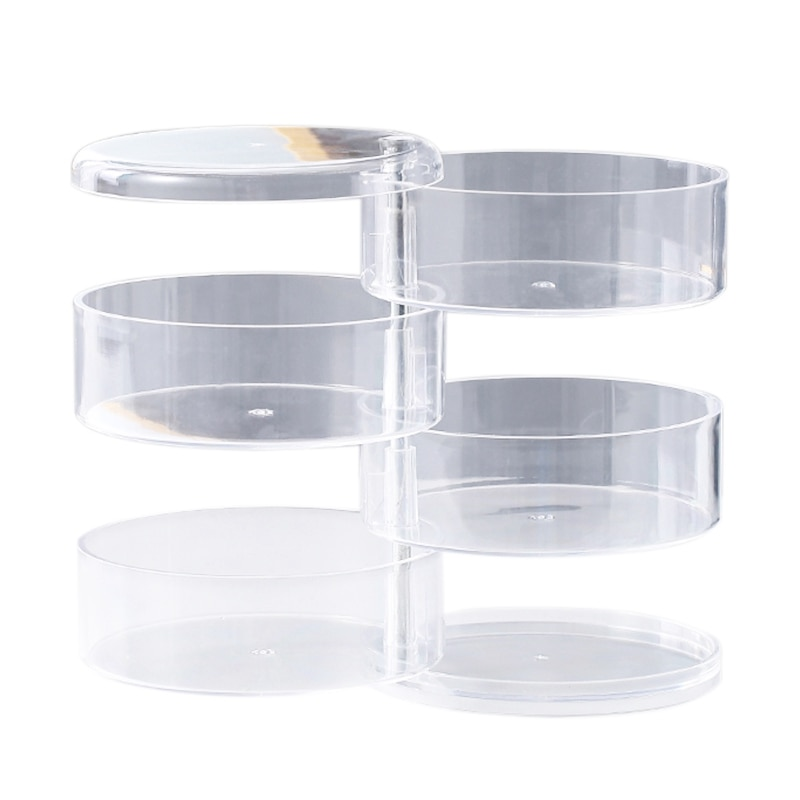 4 Layers Transparent Rotating Jewelry Box Earring Necklace Ring Jewelry Storage Box Multifunctional Jewelry Box Storage Rack