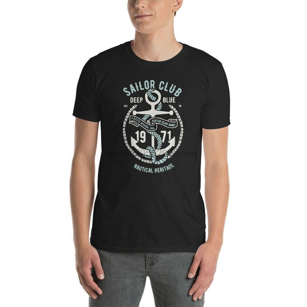 Marinero Club azul profundo océano Atlántico mar navegar Saliboat yate mar camiseta
