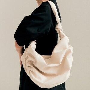 Knot Ring Pleated Cloud Shoulder Bag Women Designer Soft PU Leather Hobos Handbag Female Large Capacity Tote Clutch Bag Fashion