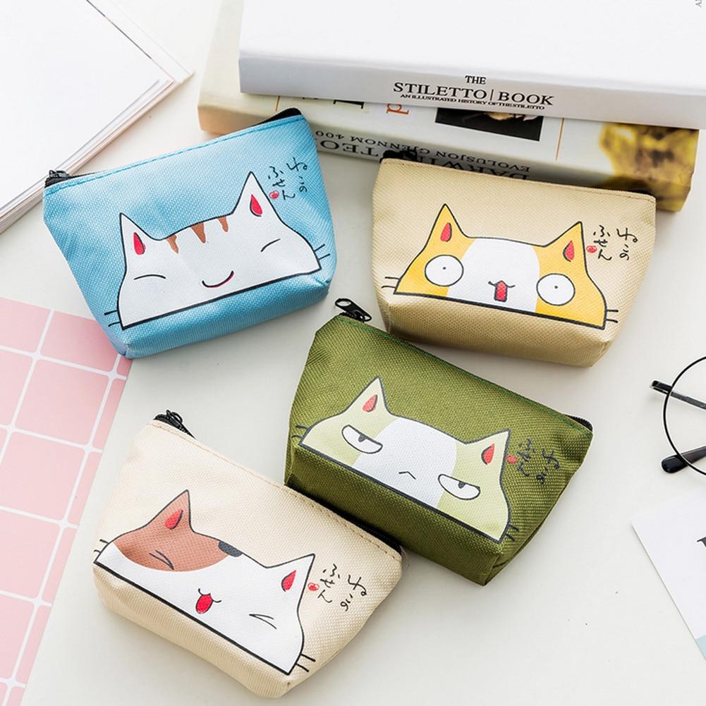 1PC Cute Cartoon Animal Cat Coin Purses Oxford Kids Holder Women Mini Wallet Money Storage Bag Key Case Girl Child Zipper Pouch