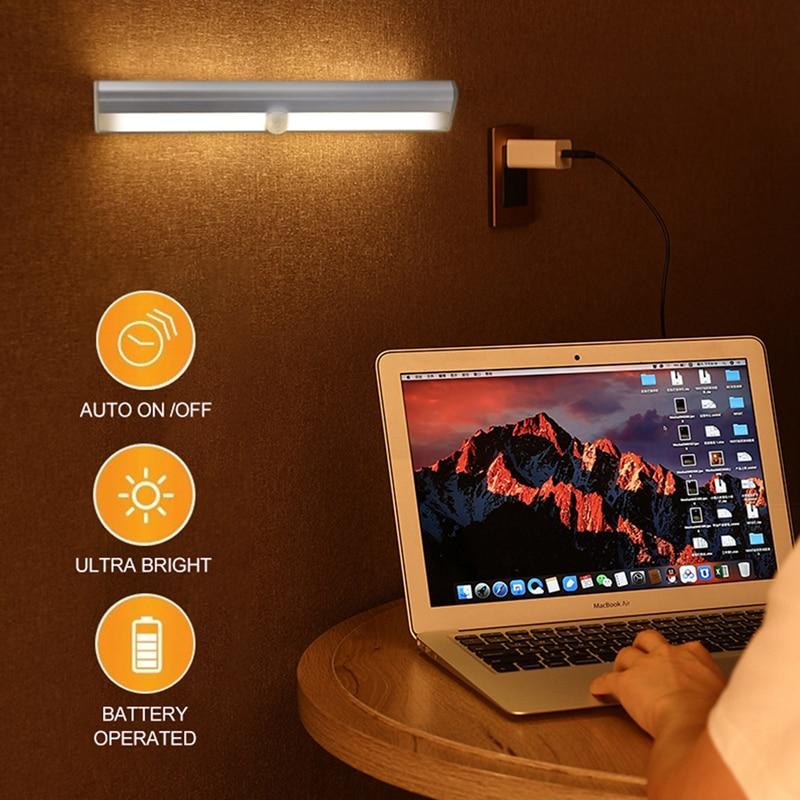 Motion Sensor Wireless LED Night Lights Bedroom Decor Light Detector Wall Decorative Lamp Staircase Closet Room Aisle Lighting enlarge