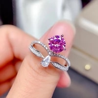 princess diana created pink topaz rings 925 sterling silver for women engagement crown ring silver 925 gemstones jewelry