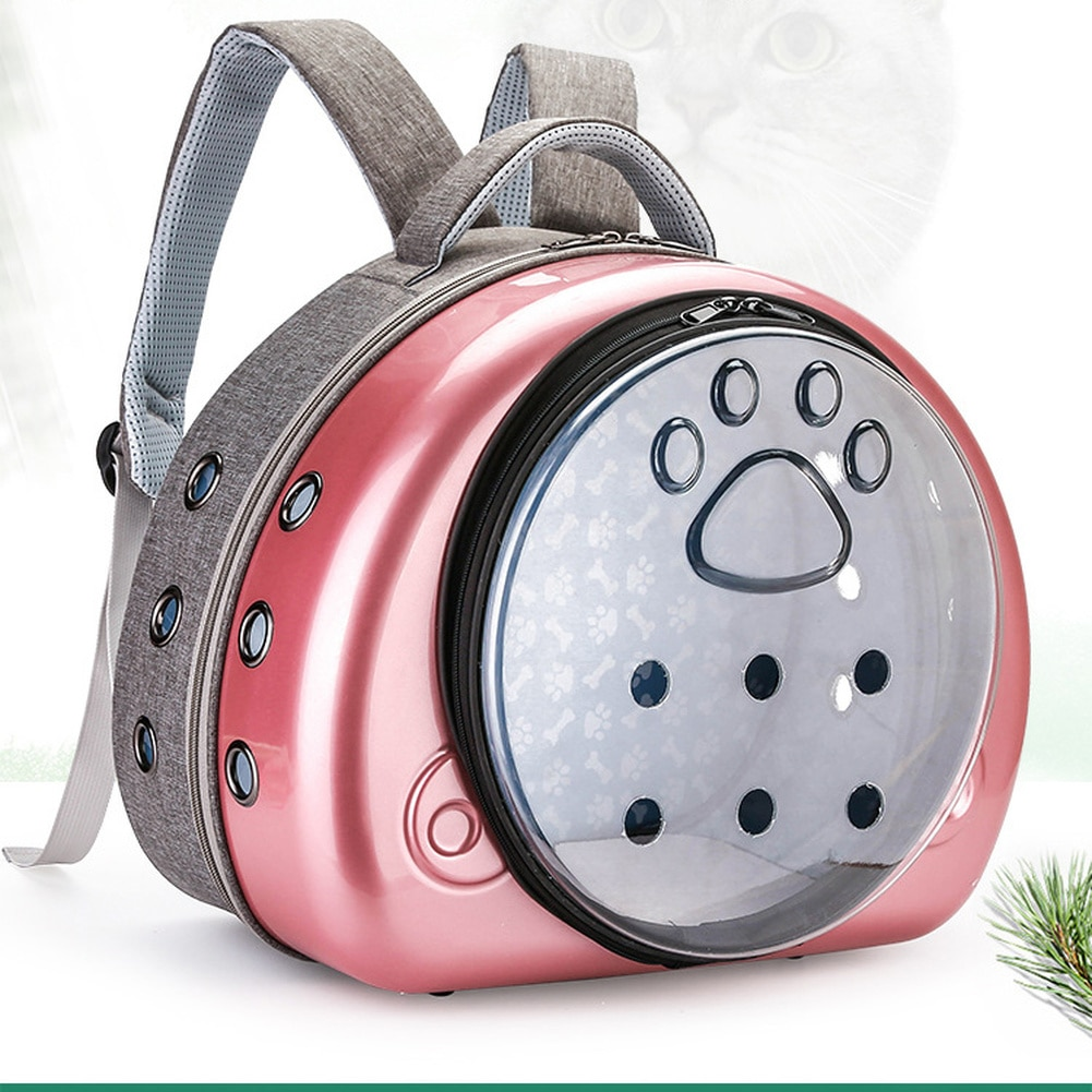 Bolsa de transporte para Gato, mochila para perros transpirable, bolsa para viajar al aire libre, bolsa para transportar la mochila portátil transparente para gatos y cachorros