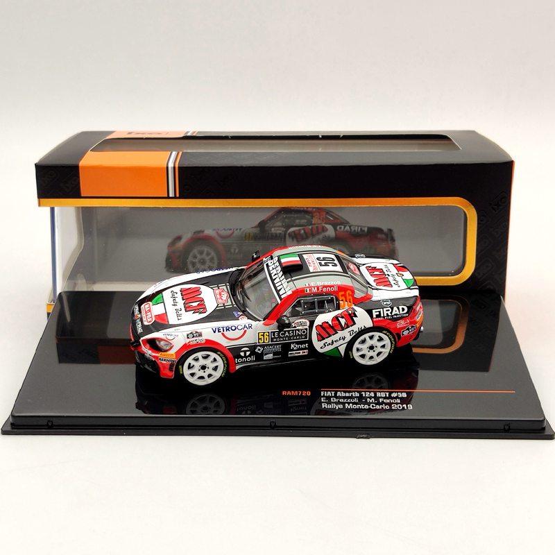 Ixo 143 para fiat abarth 124 rgt #56 rallye monte carlo 2019 ram720 diecast modelos brinquedos carro