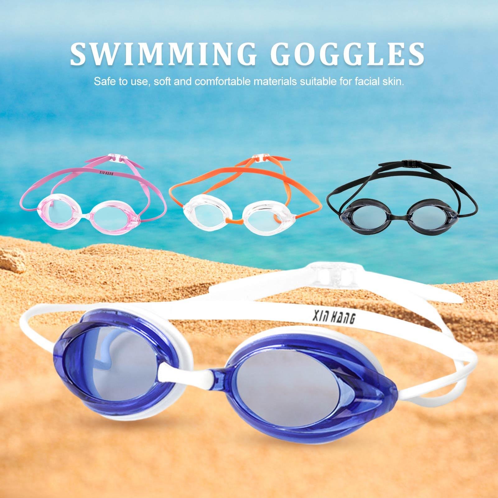 Профессиональные Водонепроницаемые очки для плавания плавательные очки Анти-туман, защита от УФ для взрослых детей очки для дайвинга обору...