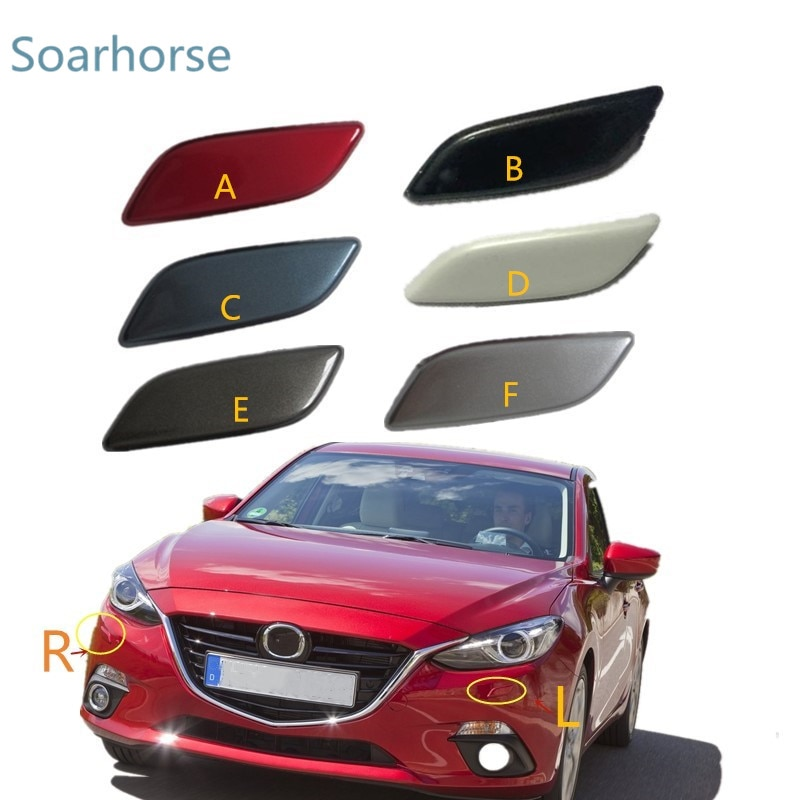 Soarhorse для Mazda 3 M3 Axela 2014 2015 2016 передняя фара шайба Форсунка крышка