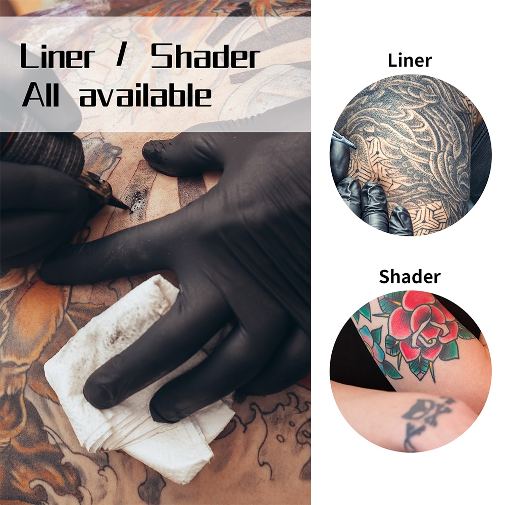 Tattoo Kit Professional Tattoo Machine Kit Rotary Pen Tattoo Power Supply With Cartridges Needles For Permanent Makeup Body Art professional tattoo power supply permanent makeup led screen motor power tattoo machine for liner shader foot pedal high quality