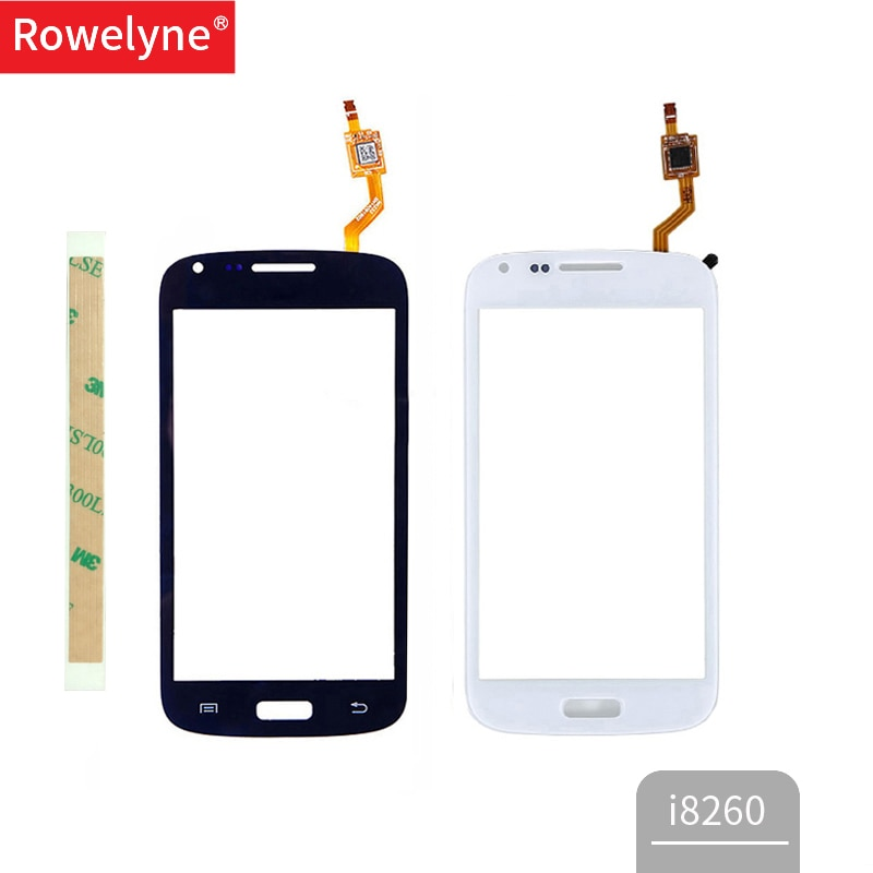 "4,3 ""para Samsung Galaxy Core i8260 i8262 Duos GT 8262 8260 pantalla táctil digitalizador Sensor frontal cristal lente Panel negro blanco"