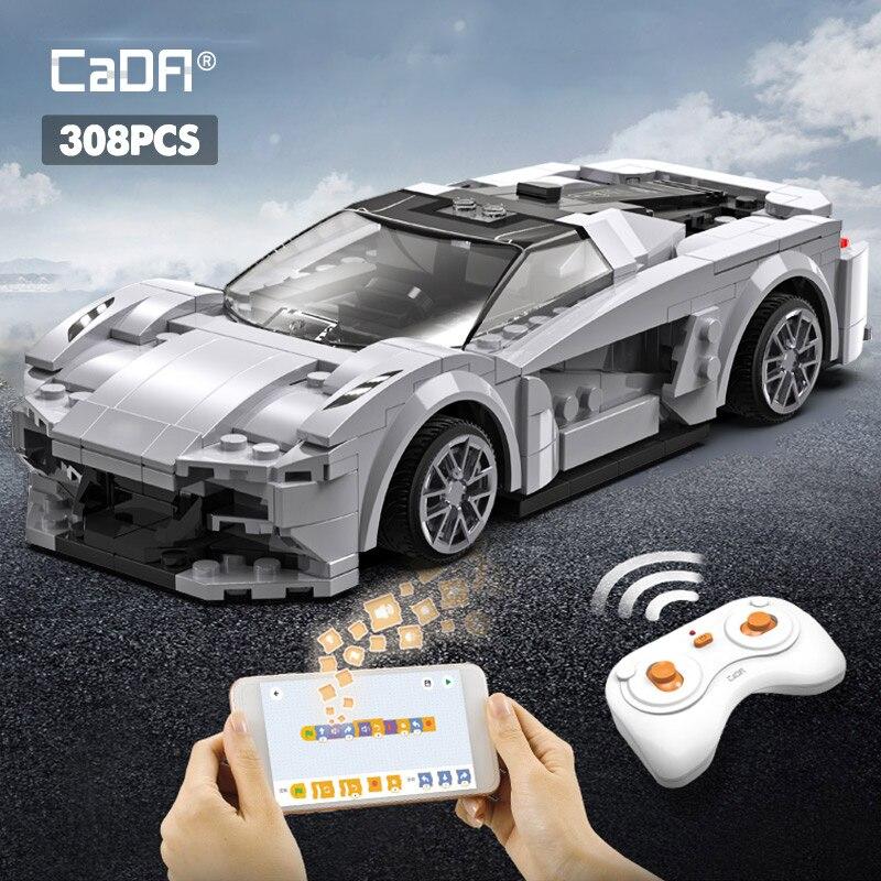 Высокотехнологичные строительные блоки для спортивного автомобиля с дистанционным управлением и программируемым приложением, город, Радиоуправляемый автомобиль, гоночный автомобиль, кирпичи, подарки, игрушки для мальчиков        АлиЭкспресс