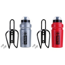 DUUTI 500ml MTB Bike Water Bottle + Bottle Holder Cage Rack Mount Screw Portable Water Bottle for Cy