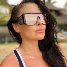 Europeo di Nuova Piazza Occhiali Da Sole Donne 2020 Nuovo Grande Flat Top Occhiali Da Sole di Grandi Dimensioni Femminile Vintage Retro Shades per le Donne Degli Uomini UV400