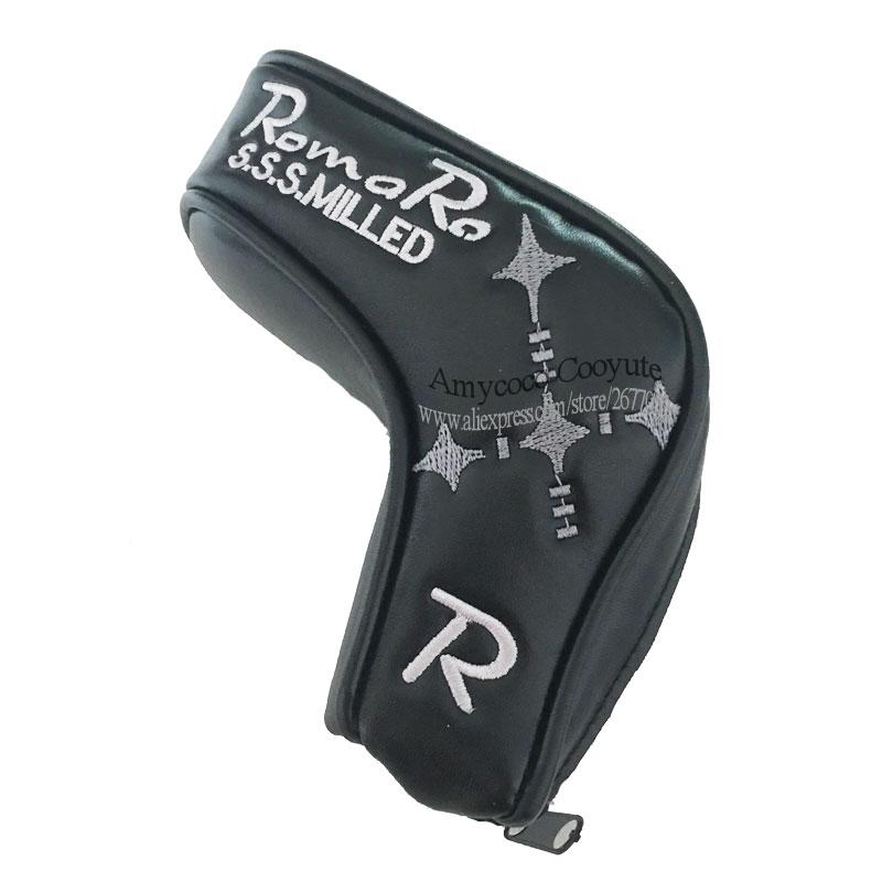 Nueva funda para cabeza de palo de Golf Romaro, funda de cabeza para Club de Golf, cremallera T Putter PU, Funda de cuero para Golf