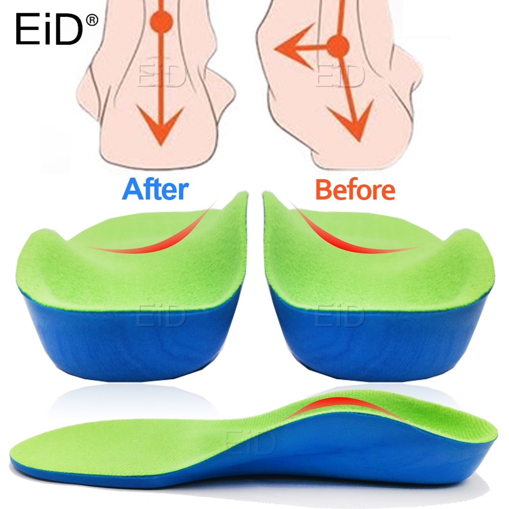 EVA 3D Orthotic Insoles flat feet for kids and Children Arch Support insole for OX-Legs child orthop