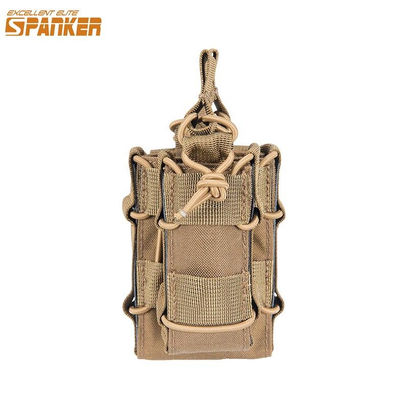 AUSGEZEICHNETE ELITE SPANKER Taktische Doppel Magazin Tasche für M4 M14 M16 G36 AR15 Magazin mit 1911 HK45 Glock Pistole Pouch