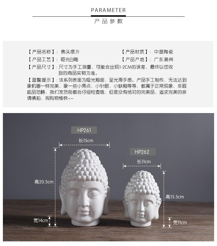 Estilo chino estatua de Buda... adorno de cabeza de Buda... figurita de...