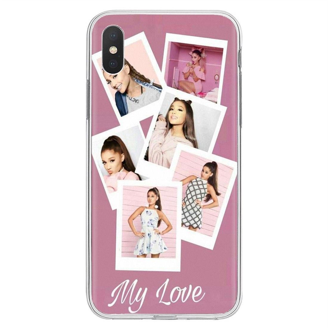 Bonita y inspiradora funda de silicona para Samsung Galaxy A10, A30, A40, A50, A60, A70, S6, Active Note Edge de Ariana Grande