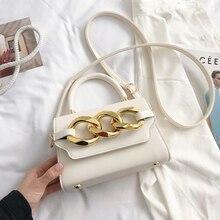 Elegant Designer Soft Leather Chain Solid Color Shoulder Bags for Women 2021 Summer Messenger Small
