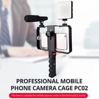 video camera cage stabilizer film making rig for cell phone handheld bracket dq drop