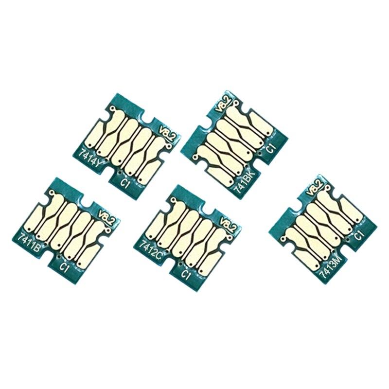 T7411-T7414 cartucho de tinta Chip para Epson SureColor de F6070 F7070 F6000 F7000 F6270 F7170 F7270 F6200 F7200 F9290 F9300 Chip