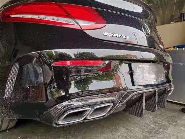 Carbon fiber Rear Bumper Lip Auto Car Diffuser MC Style For Benz W205 Coupe C63 C63S COUPE AMG 2016 2017 2018