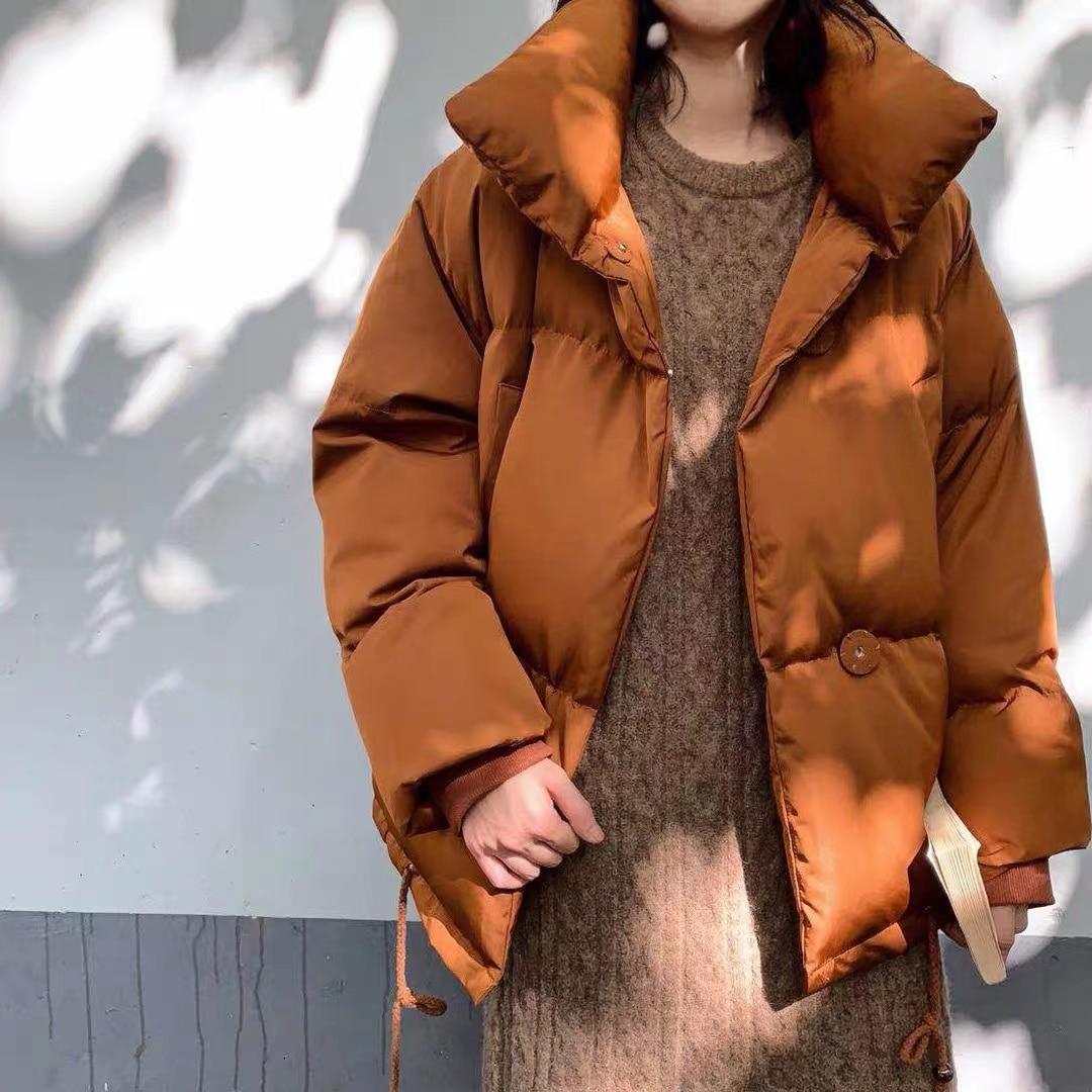 Женское пальто на молнии, парка, зимняя куртка, пальто, модная Осенняя однотонная теплая Повседневная парка с подкладкой, женская короткая к...