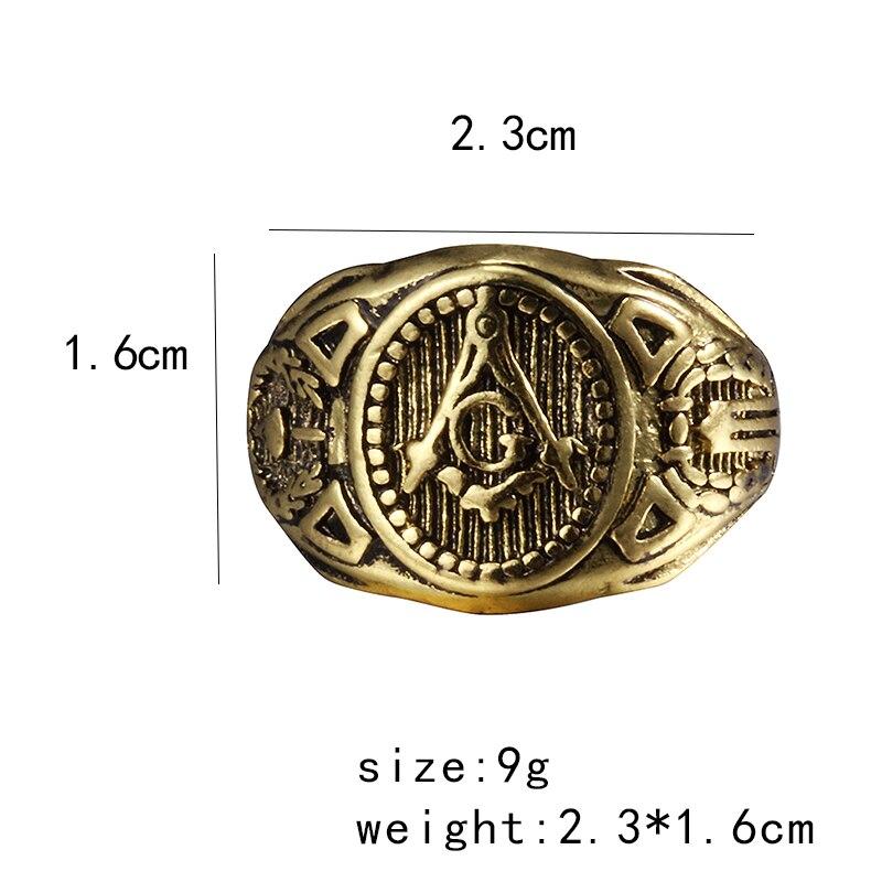 Joyería de moda Vintage encanto masón masónico anillos para hombres mujeres regalo de Navidad