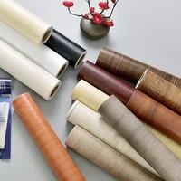 solid color pvc wood grain wallpapers self adhesive kitchen cabinets bedroom closet door furniture restorable decorable stickers