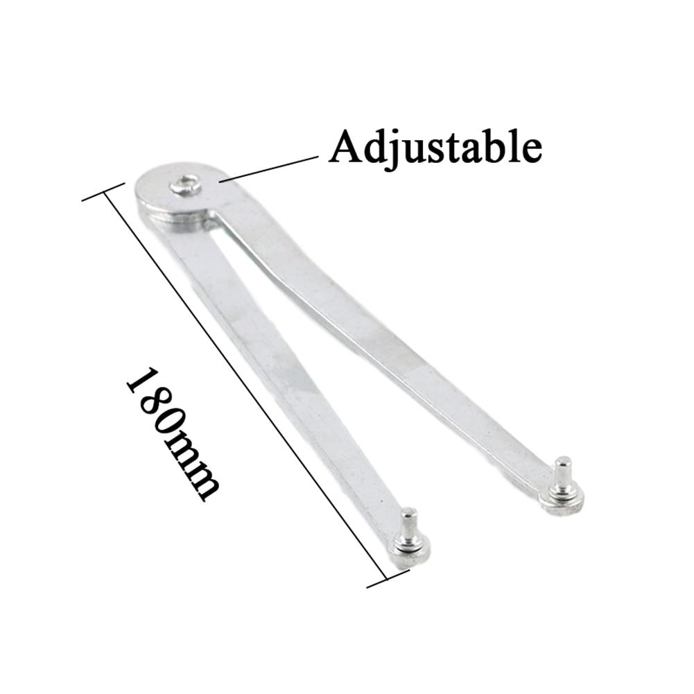 180mm Angle Grinder Spanner Adjustable Wrench Carbon Steel Angle Grinder Spanner Home Wrenches Repair Tools