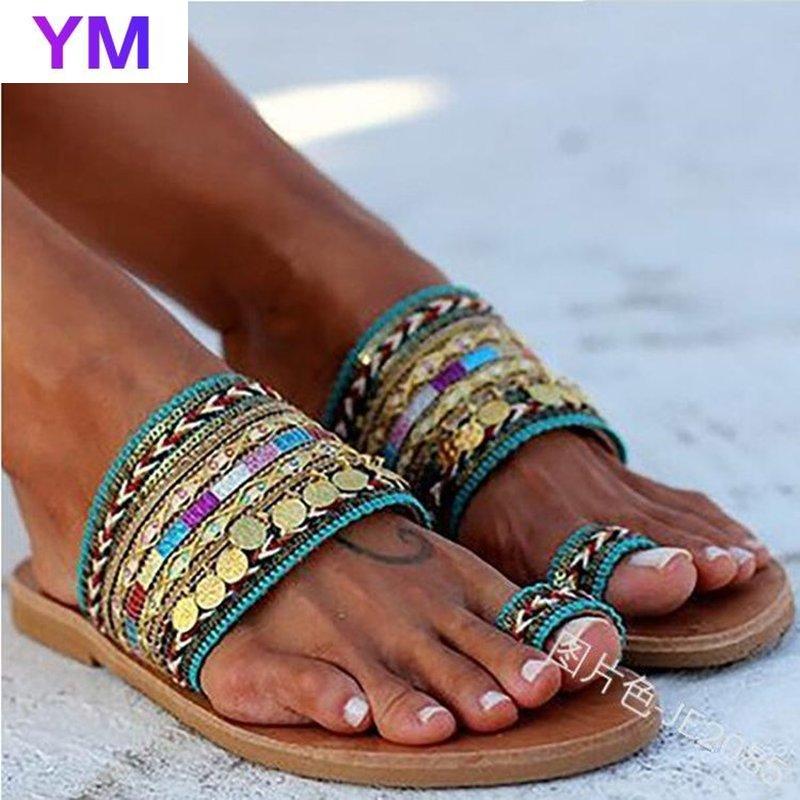 2020, zapatos de verano para mujer, sandalias bohemias cuadradas artesanales para mujer, sandalias de estilo griego hechas a mano, sandalias femeninas con textura de PU